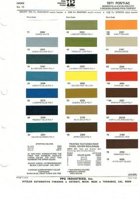 Gm Paint Codes >> PontiacRegistry.com :: View topic - 1971 Pontiac exterior ...