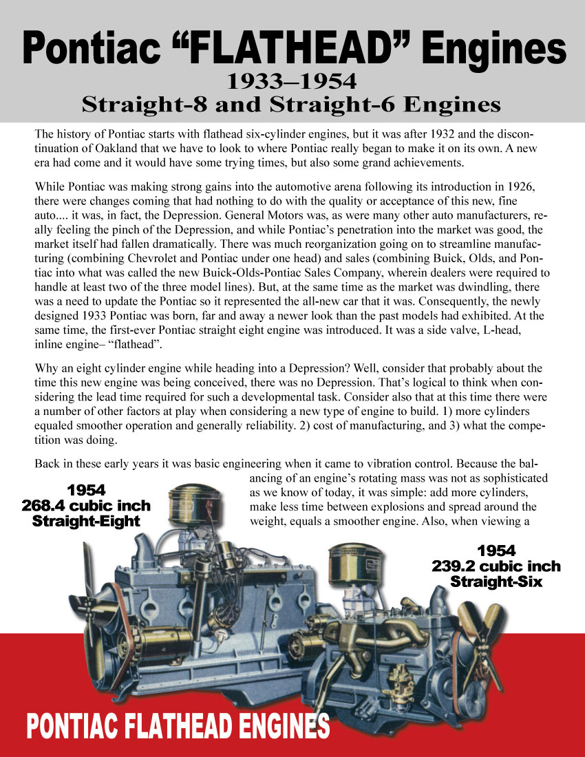 Magazine Contents Pontiac Big Block Engines One Of Pontiacs Most Famous Features Was Its Time Proven Flathead Engine Design From The Beginning Straight 8 In 1933 Followed By